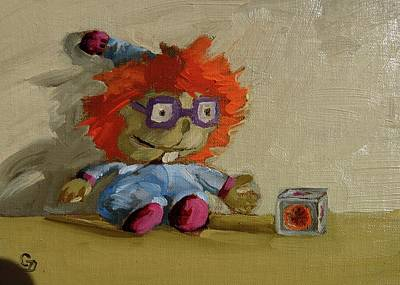 Painting - Chuckie by Grace Diehl