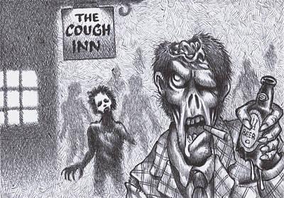 Chuckin' Out Time At The Cough Inn Pub Original by Hermit