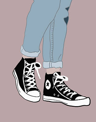 Converse Digital Art - Chucks by Nicole Wilson
