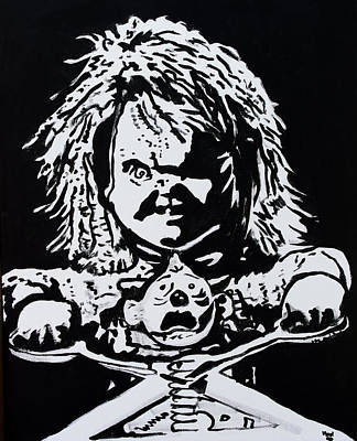 Painting - Chucky And Jack by Marisela Mungia