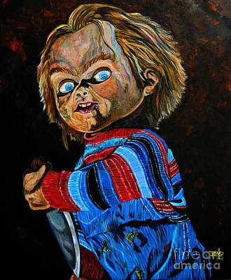 Chucky Painting - Chucky  by Jose Mendez