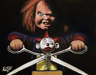 Chucky Art Print by Tom Carlton