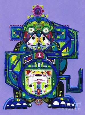 Drawing - Chuen Robotic Monkey by Felipe Perez