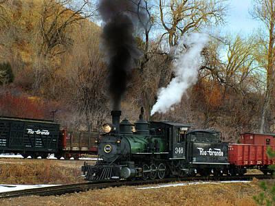 Colorado Railroad Museum Photograph - Chug-a-chug by Ken Smith