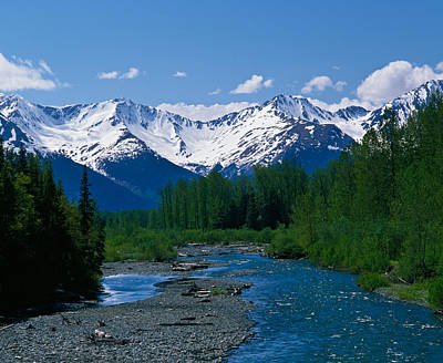 Chugach Mountains Photograph - Chugach Mountains, Running Stream by Panoramic Images