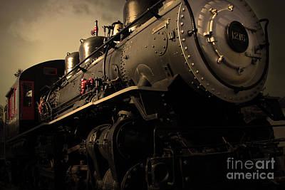 Chugging Across America In The Age Of Steam . Golden Cut . 7d12980 Art Print by Wingsdomain Art and Photography