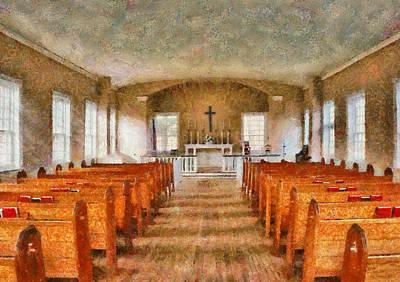 Communion Photograph - Church - Inside A Church by Mike Savad