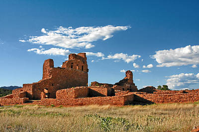 Church Abo - Salinas Pueblo Missions Ruins - New Mexico - National Monument Original by Christine Till