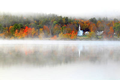 Photograph - Church Across The Lake by Brian Pflanz