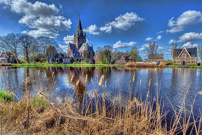 Photograph - Church Along The Amstel River by Nadia Sanowar