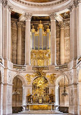 Church Altar Inside Palace Of Versailles Art Print by Jon Berghoff