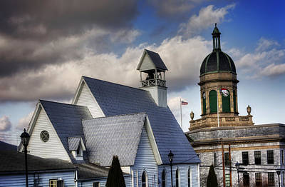 Photograph - Church And Courthouse by Greg Mimbs