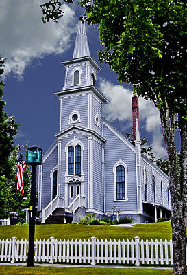 Photograph - Church And Flag by Dale Stillman