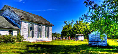 Photograph - Church And Graveyard by Jonny D