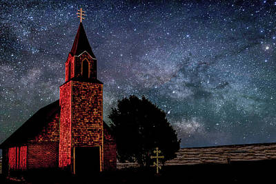 Photograph - Church And Milky Way by Dawn Key
