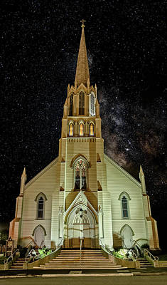 Photograph - Church And Milky Way by Greg Nyquist