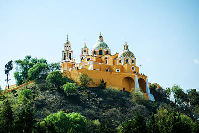 Photograph - Church And The Great Pyramid Of Cholula, Mexico by Tatiana Travelways