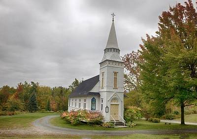 Photograph - Church At Autumn by Patricia Dennis