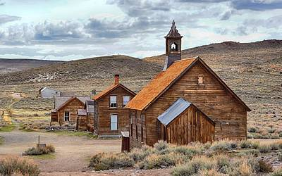 Photograph - Church At Bodie Ghost Town by AJ Schibig