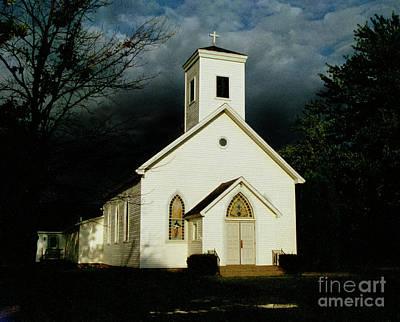 Photograph - Church At Dusk by Tom Brickhouse