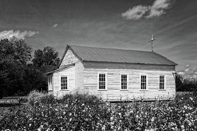 Church At Frogmore Plantation  -  Bw Art Print by Frank J Benz