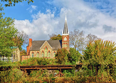 Photograph - Church At Harpers Ferry by John M Bailey