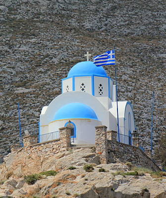 Photograph - Church At Kamari, Santorini, Greece by Elenarts - Elena Duvernay photo