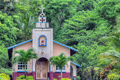 Photograph - Church At Maracas Bay  by Nadia Sanowar