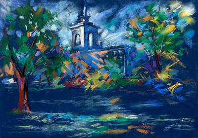 Modern Man Surf Royalty Free Images - Church at night  by Ivailo Nikolov Royalty-Free Image by Boyan Dimitrov
