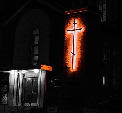 Photograph - Church At Night - Edmonton by Desmond Raymond