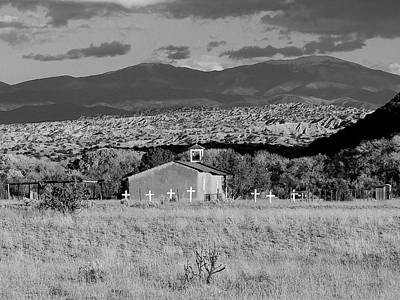 Photograph - Church At San Ildefonso Pueblo by Jeannie Bushman