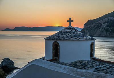 Skopelos Photograph - Church At Sunrise, Skopelos, Greece by Ben Asen