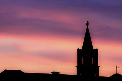 Photograph - Church At Sunrise by SR Green