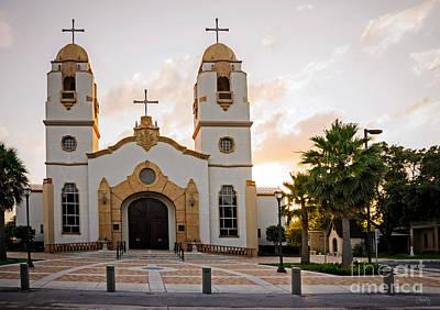Church At Sunset Art Print