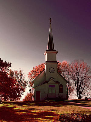 Photograph - Church At Sunset by Susan Crossman Buscho