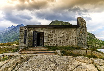 Photograph - Church At The Grimselpass, Bern Canton, Switzerland by Elenarts - Elena Duvernay photo