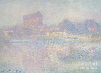 Painting - Church At Vernon  In The Fog by Claude Monet
