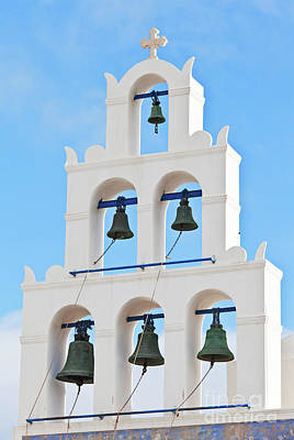 Photograph - Church Bell In Santorini by Gualtiero Boffi
