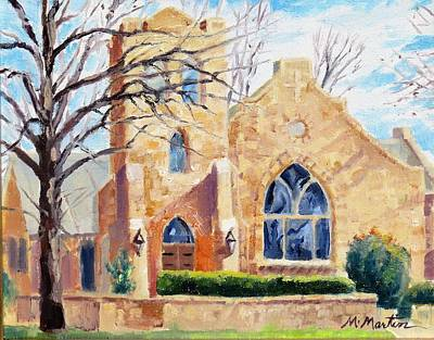 Mike Martin Painting - Church Building by Mike Martin