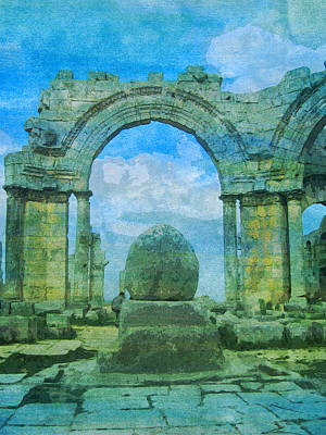 Church Byzantine Simeon  Art Print