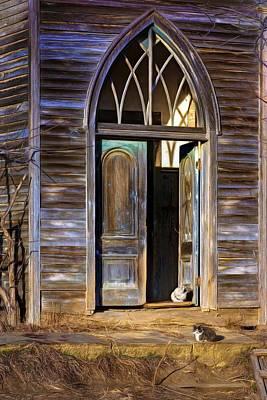 Abandoned Pets Photograph - Church Cats by Nikolyn McDonald