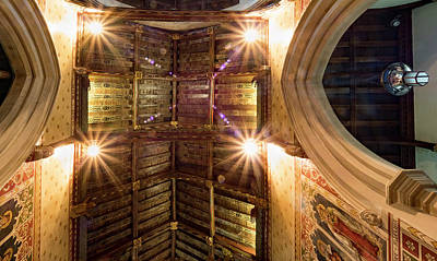 Photograph - Church Ceiling by Jean Noren