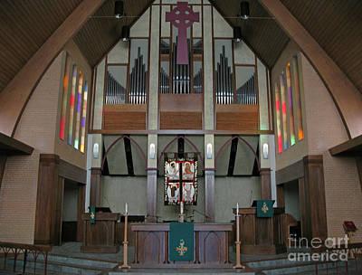 Pentecost Photograph - Church Chancel by Ann Horn