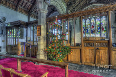 Winter Light Photograph - Church Christmas Tree by Ian Mitchell
