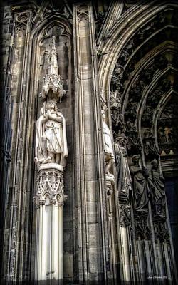 Digital Art - Church Columns by Joan  Minchak