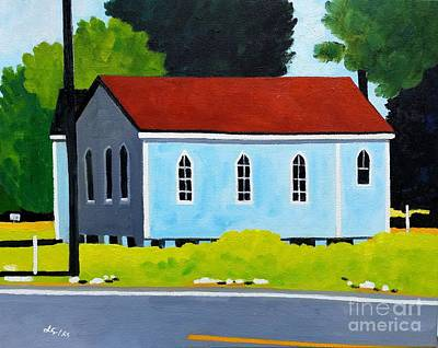 Church, Dailsville Rd Art Print by Lesley Giles
