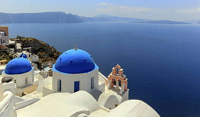 Photograph - Church Domes In Oia, Santorini, Greece by Elenarts - Elena Duvernay photo
