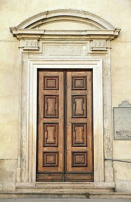 Photograph - Church Door by Valentino Visentini