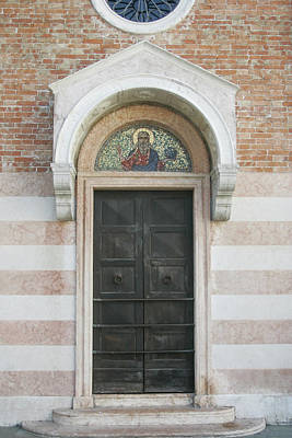 Photograph - Church Door Venice by Christopher Rees