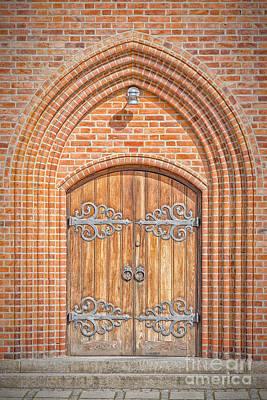 Church Doors In Helsingor Art Print